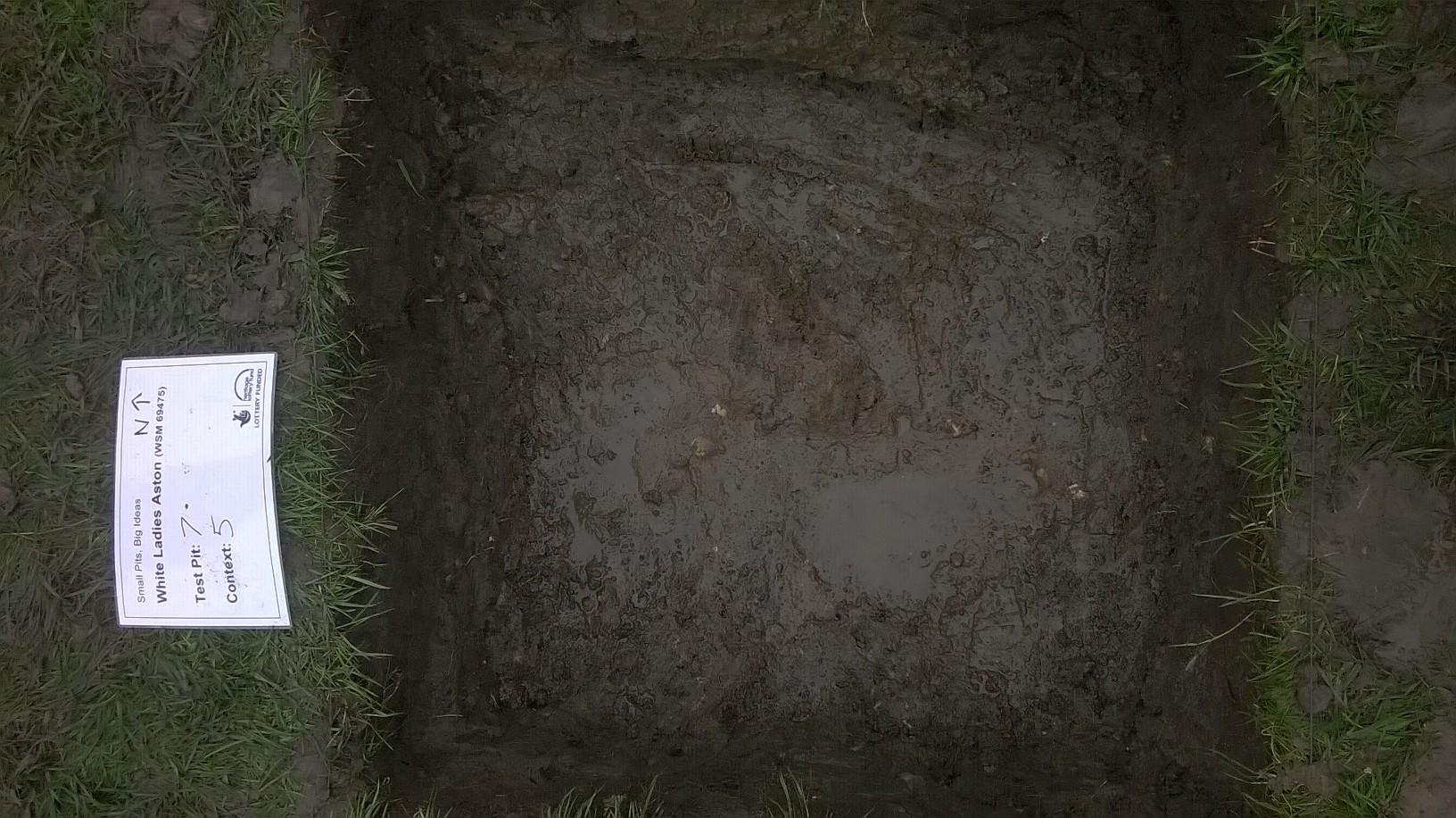 test pit dug